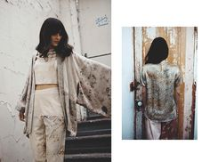 kimono inspiration for cut and sew seam at waist  Cara Marie Piazza - Look Book