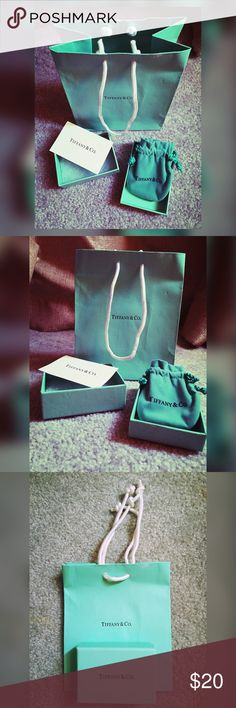 Tiffany & Co. Authentic Tiffancy & Co. small bag and small box with jewelry bag. Tiffany & Co. Accessories