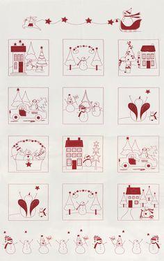 Moda Winter Wonderland Fabric Panel Snow White 2870 11