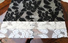 Tea Leaves Design Lace Fabric SINGLE COLOR Swatch by LaceFabrics, $1.00