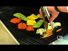 CIA Chef instructor Howie Velie demonstrates how to prepare Marinated Pepper Salad with Pine Nuts and Raisins.