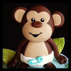 Fondant monkey by Royalty_Cakes, via Flickr