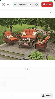 Outdoor Furniture Sets, Outdoor Decor, Burnt Orange, Color, Home Decor, Decoration Home, Room Decor, Colour, Home Interior Design