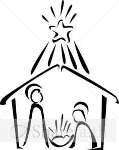 Black And White Christmas Nativity Clipart - Clipart Suggest Christmas Rock, Christmas Nativity, Christmas Signs, Christmas Projects, Holiday Crafts, Christmas Holidays, Christmas Decorations, Christmas Ornaments, Xmas