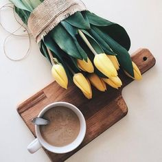 Kellemes #péntek reggelt mindenkinek! #morning #friday #coffee #breakfast #tulips #spring #mik #elle #ellehungary  via ELLE HUNGARY MAGAZINE OFFICIAL INSTAGRAM - Fashion Campaigns  Haute Couture  Advertising  Editorial Photography  Magazine Cover Designs  Supermodels  Runway Models