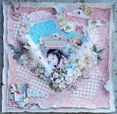 Precious Memories, Baby scrapbook page by Arlene Cuevas