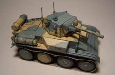 Light Tank Mk VII Tetrarch Free Paper Model Download…