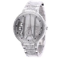 MELISSA Women's Luxury Diamond-studded Iron Tower Ladies Watch Color Silver: Watches: Amazon.com$140.00