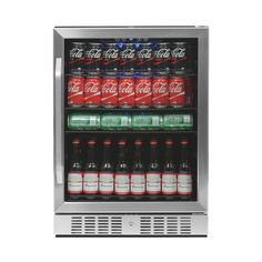 NewAir - 177-Can Beverage Cooler - Stainless steel (Silver)
