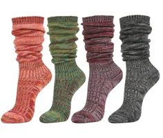 Women's Fall Winter Slouch Knit Socks 4pairs....PURCHASE HERE. $28