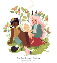 Hi everyone! An exciting announcement - I'm launching a new webcomic called The Tea Dragon Society on September 14th, to be published by Oni Press! It will be released in weekly updates every Sunday, and at the end will be compiled into a book by Oni...