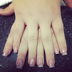 Gel Glitter Nails, fake nails