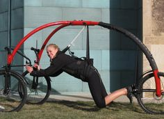 Totally Absurd Inventions & Patents - From the tricycle lawn mower to the diaper alarm, read about some of the strangest patents ever issued by the US Government. Tricycle, Indoor Bike Rack, Hang Gliding, Gear S, Motorcycle Bike, Car Wheels, Bike Design, Gliders, Outdoor Fun