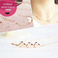 Set bijuterii placate cu aur roz - LOVEU - MSM-Shop Aur, Bracelets, Gold, Shopping, Jewelry, Jewlery, Jewerly, Schmuck, Jewels