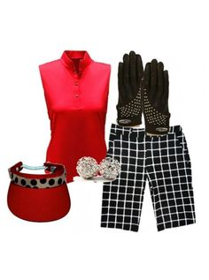Birdee Sport of Australia Lightweight Big Squares Print Golf Shorts-Black