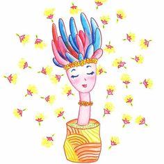 Green Attitude #mulicolor #cactus #plants #illustration #design #graphic #graphicdesign #watercolor #colors #pencildrawing #drawing #illustree #illustrationart #illustrationartists