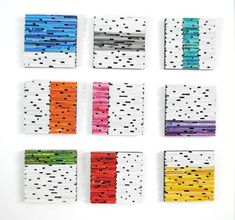 set of 9 brightly colored SQUARES wall art made from Recycled Magazines, Square Art, Inspirational Wallpapers, Colorful Wall Art, Art Mural, Designer Wallpaper, Wallpaper Designs, Texture, Fashion Room