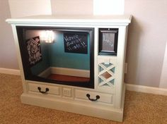 Repurposed Upcycled Vintage Zeneith Console TV Dog House Pet Bed Vtg Unique Custom