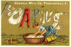 Vitage Laundry Detergent   Vintage Soapine Soap Ad Fridge Magnet Clothesline Laundry Basket ...