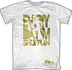 White and Gold LMFAO Shufflin T-shirt