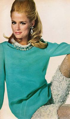 Jeweled evening tunic and short pants by Oscar de la Renta for Jane Derby...I so know this model...very famous at this time....