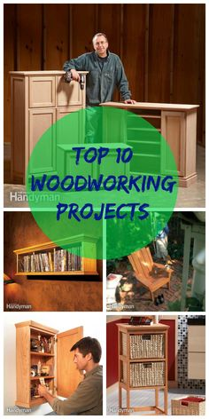 The Top 10 Woodworking Projects: Complete plans for 10 great DIY projects. http://www.familyhandyman.com/woodworking/the-top-10-woodworking-projects