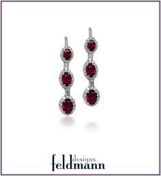 Matching Burmese Ruby Drop Earrings