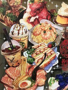 Walpapers Cute, Desserts Drawing, Real Food Recipes, Yummy Food, Arte Do Kawaii, Cute Food Art, Food Sketch, Cute Food Drawings, Food Cartoon