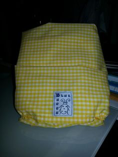 Matching Fitted Sheet for the Sesame Street Quilt in Yellow Gingham!