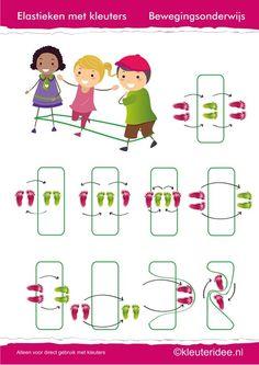 Gymles voor kleuters, eenvoudig elastieken les 1, juf Petra van kleuteridee.: