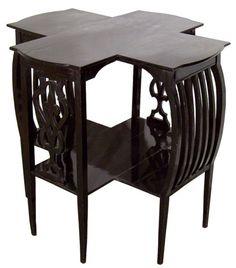 Austrian Art Nouveau (Jugendstil) table in Joseph Maria Olbrich style