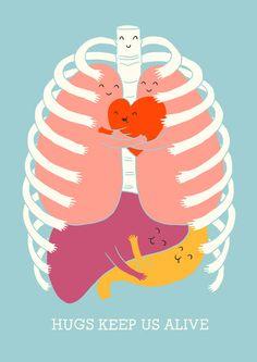Hug keep us alive. Love Doodles, Happy Doodles, Make Me Happy, Make Me Smile, Smile Smile, Live Happy, Happy Art, Humor Grafico, Creations