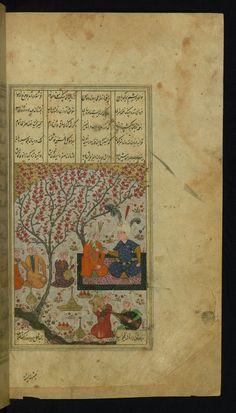 Alexander the Great entertains Kanīfū - Text: Āyinah-i Iskandarī - W622