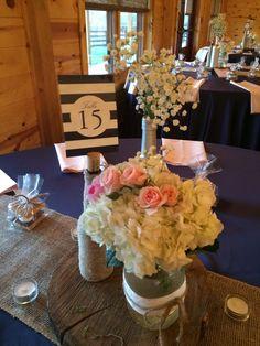 Rustic elegance centerpiece at Canopy Creek Farm by Furst #FurstEvents #daytonweddings