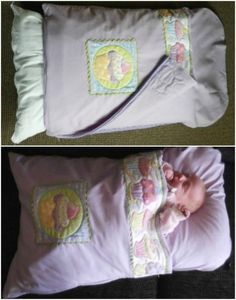 DIY Baby Pillowcase Sleeping Bag Patterns (Video)/Baby Nap Mat DIY tutorial