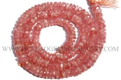 Gemstone Beads, Rhodochrosite Faceted Wheel (Quality AA+) / 4 to 5.5 mm / 36 cm / RH-057 by beadsogemstone on Etsy #rhodochrositebeads #gemstonebeads #semipreciousstones #briolettes