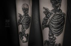 skeleton #blackwork #dotwork