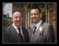 The groom and his father before the ceremony