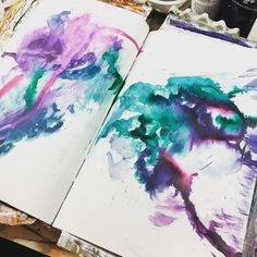 Getting into the #art rhythm with .@thestromboshow. Let's see where this #artjournal page goes #sundayinthestudio @strombo