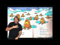 """Keith Wann performs the Dr. Seuss book """"Oh the Thinks You Can Think"""" in ASL Sign Language Interpreter, Asl Sign Language, American Sign Language, Asl Videos, Asl Signs, Deaf Culture, Speech Language Therapy, Dr Suess, Book Worms"""