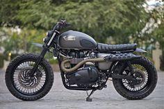 Triumph Bonneville Scrambler by Rajputana Custom Motorcycles   built for Triumph Motorcycles ...