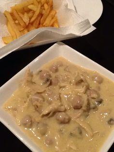 Vol au vent met vers gesneden frietjes zie  recept Mar mora- daily me