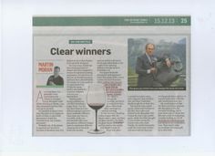 Martin Moran road-tests our elegant Zalto glassware, with excellent results.  Sunday Times 15 Dec 2013.