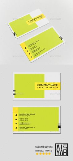 Business Card Color Block - Template PSD