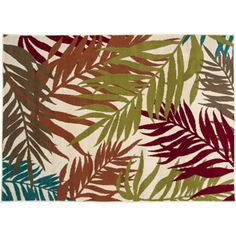 Walmart: Mainstays Indoor and Outdoor Rug, Palm Leaf, x Patio Rugs, Outdoor Rugs, Tropical Design, Striped Rug, Pool Landscaping, Palm, Vibrant, Tapestry, Diy Crafts