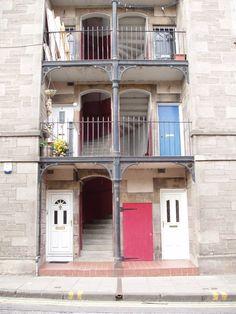 Tenement flats in Abbeyhill, Edinburgh.