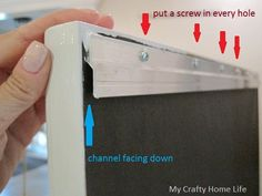 How to Hang Something Heavy.... On piece to be hung, attach carpet trim, channel DOWN (add stick on rubber bumpers near bottom of frame). On wall, attach carpet trim to studs, channel UP.