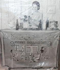 Silver Dollar Bar Cocktail VTG Convert-A-Bar Vinyl Ironing Board Cover Alvimar