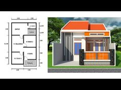 Small House Layout, Small House Design, House Layouts, Home Layout Design, Home Design Plans, Minimalis House Design, Modern Bungalow House Design, Vintage House Plans, Facade House