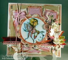 girly card with a fairy stamp. More on my blog: http://nataschas-blog.blogspot.de/2015/04/3-zwillingsrunde.html
